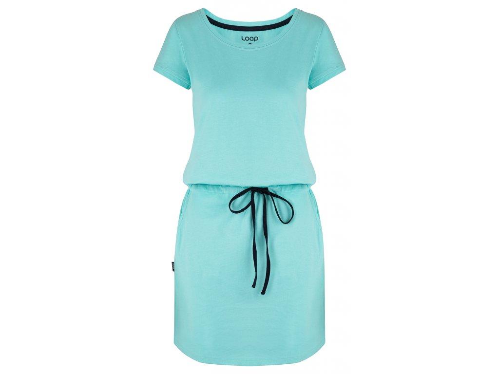 šaty dámské LOAP BANNY světle modré