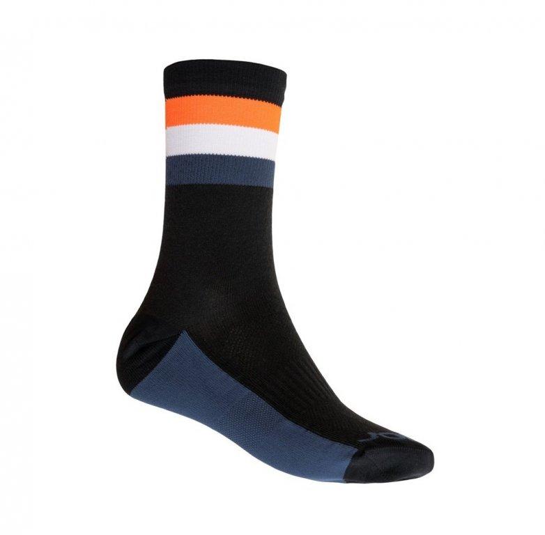 Ponožky SENSOR COOLMAX SUMMER STRIPE černo/oranžové