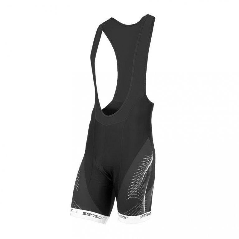 Kalhoty krátké pánské SENSOR TEAM UP šle černo/bílé