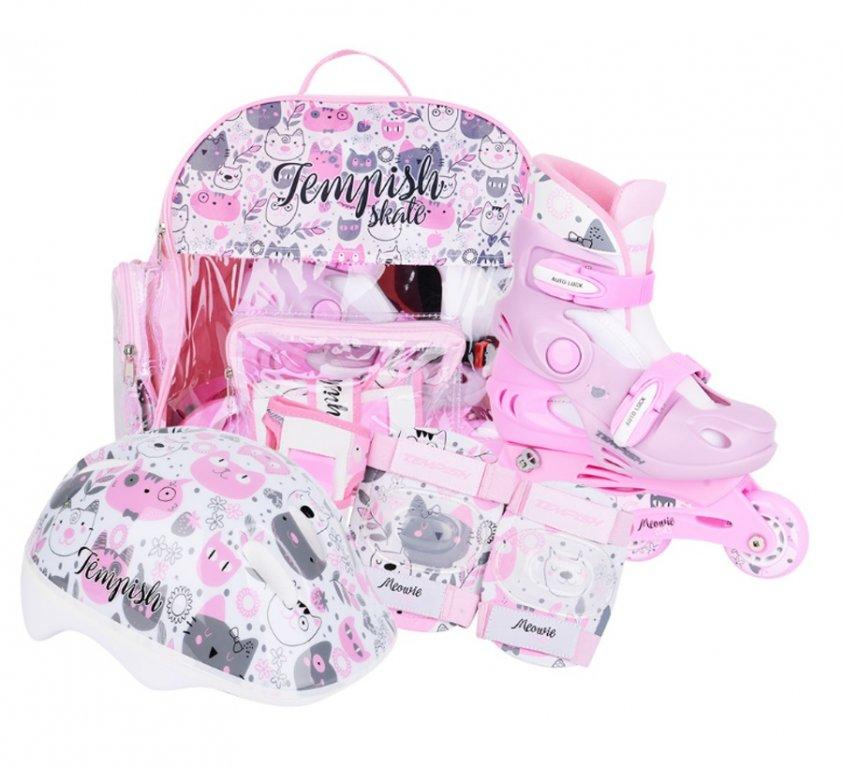 Brusle kolečkové dětské Tempish KITTY BABY SKATE sada růžové