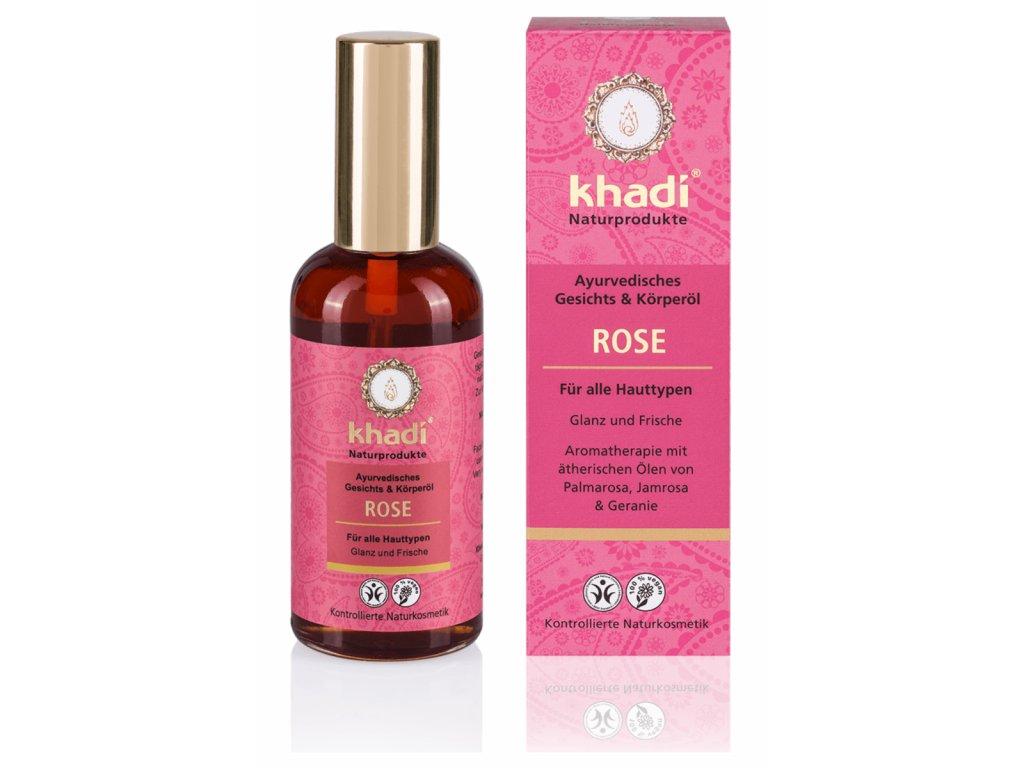 olej pleťový a tělový Khadi Růže 100 ml