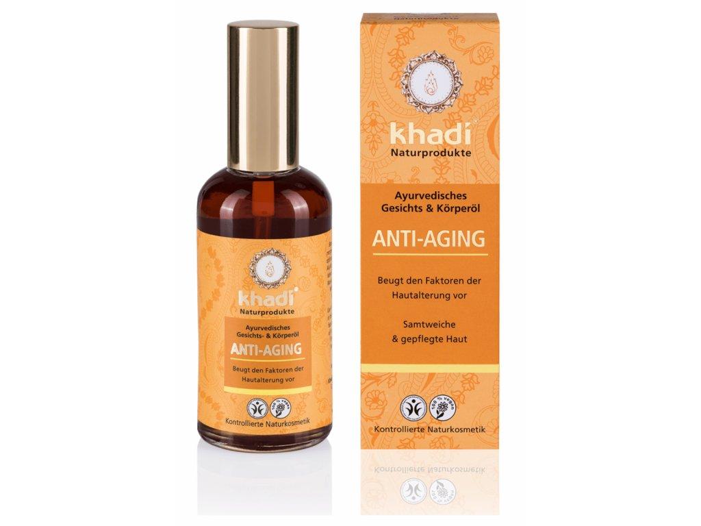 olej pleťový a tělový Khadi Anti-Aging 100 ml