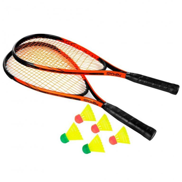 Badmintonová sada SKIPY černo/oranžová