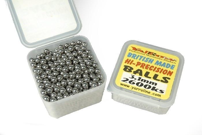 kuličky Yarrow 3.1mm 2600ks volnoběžky