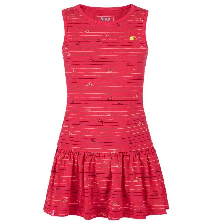 šaty sportovní dívčí LOAP BARISA červené, 112/116
