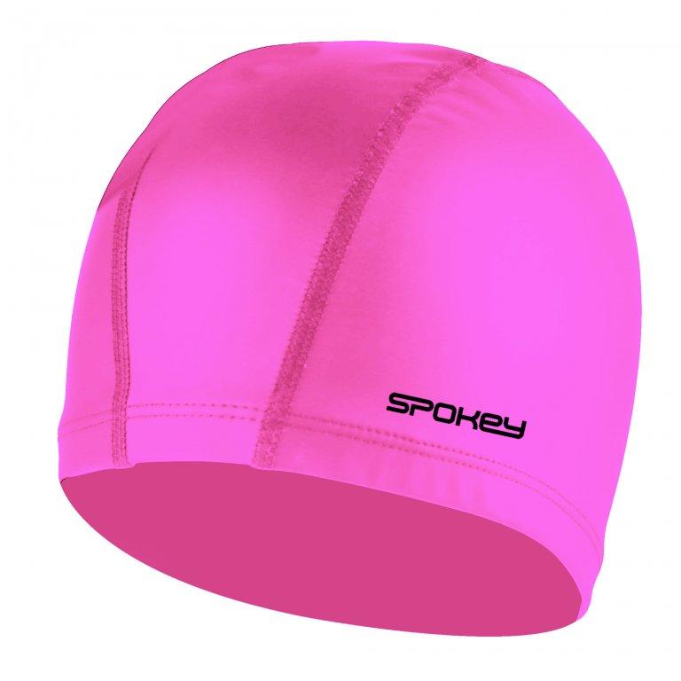 čepice plavecká Spokey FOGI silikon růžová