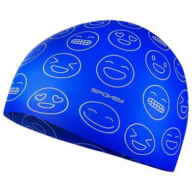 čepice plavecká junior Spokey EMOJI silikon modrá