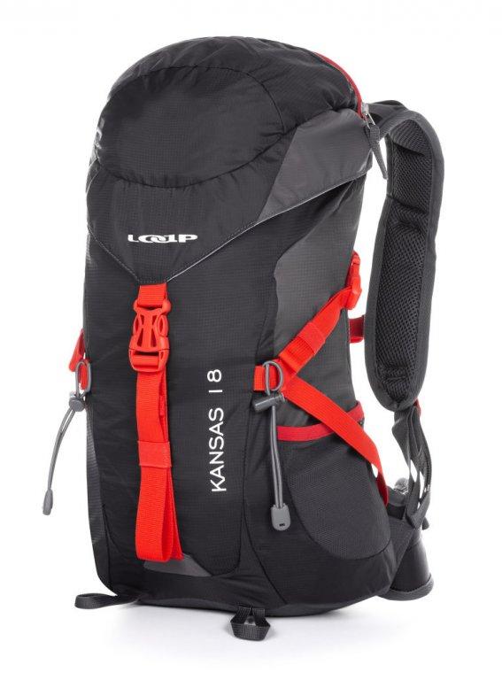 batoh turistický LOAP KANSAS 18 černo/červený