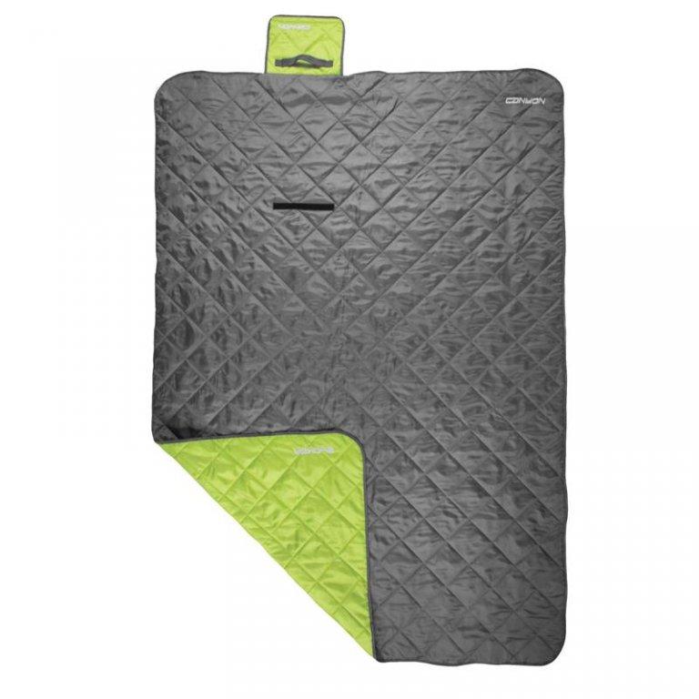 Kempingová deka CANYON 200x140 šedo-zelená