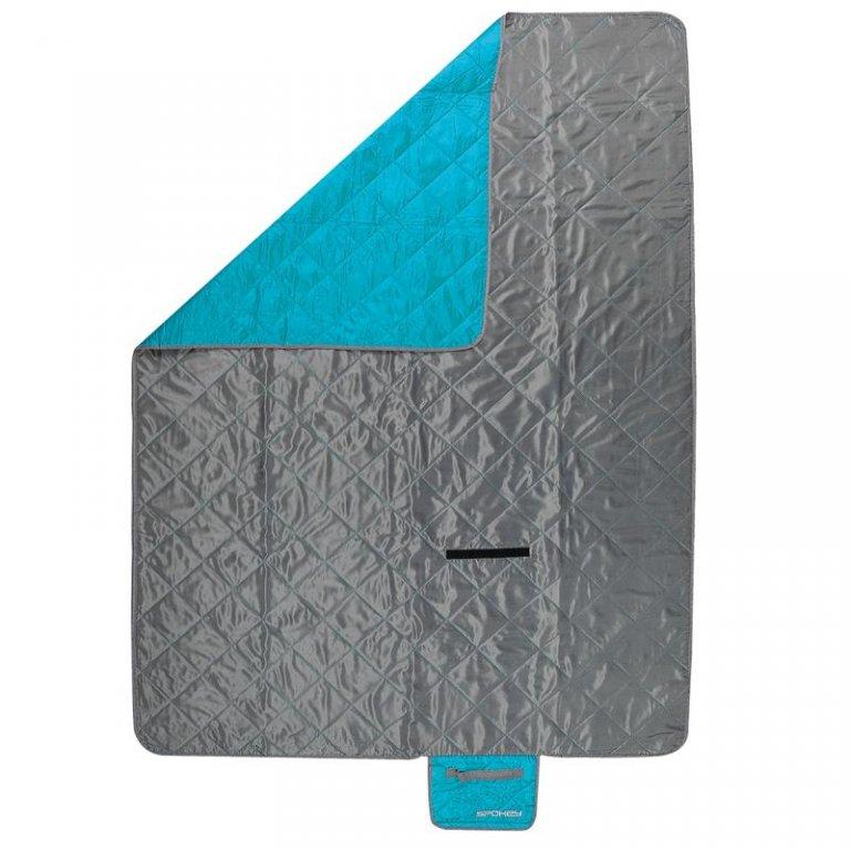 Kempingová deka CANYON 200x140 šedo-modrá