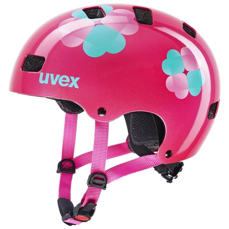 Přilba dětská UVEX Kid 3 růžová květy