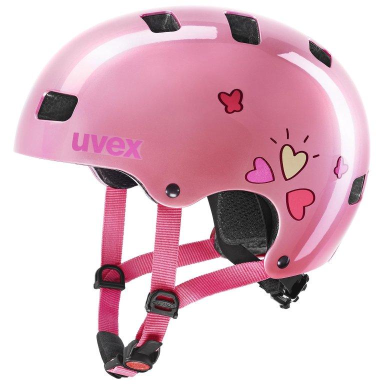 Přilba dětská UVEX Kid 3 růžová srdce