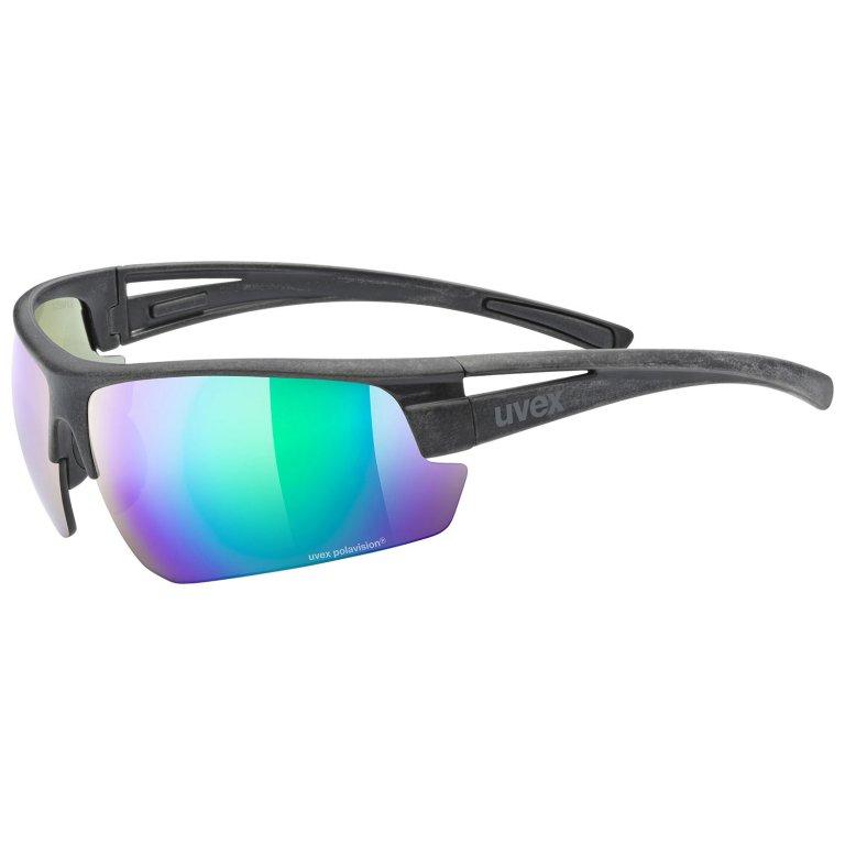Brýle UVEX Sportstyle Ocean Polavision černo/zelené