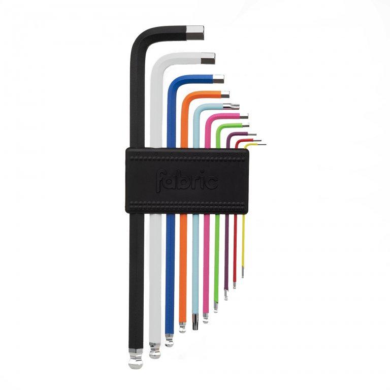 Klíče multi FABRIC HEX set mini černé