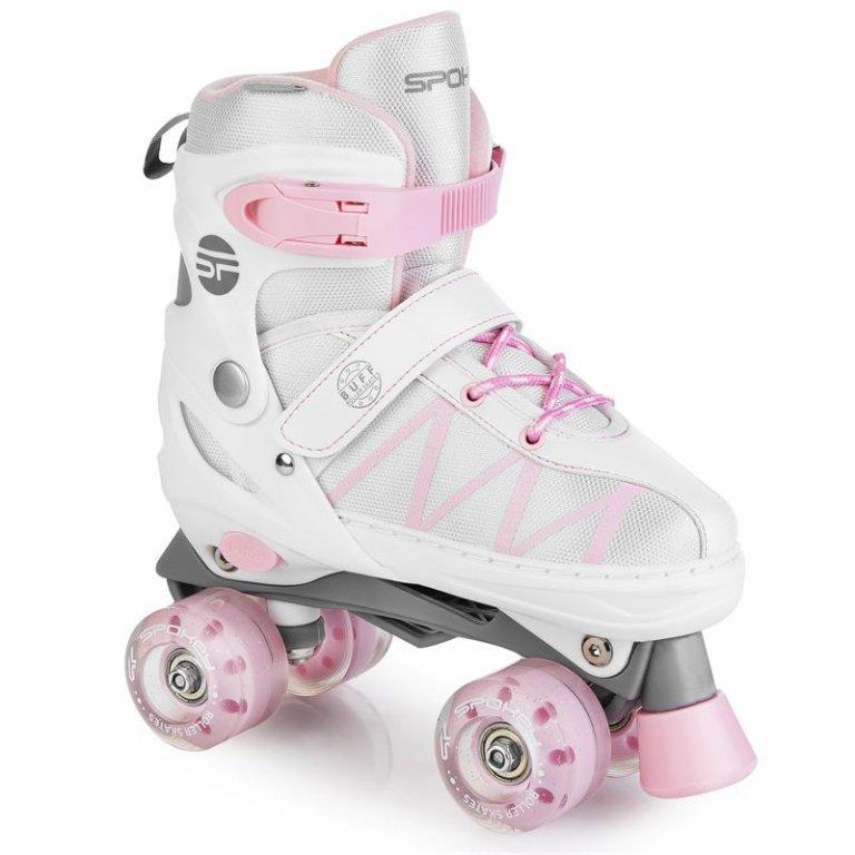 Brusle kolečkové dětské Spokey BUFF PRO bílo-růžové