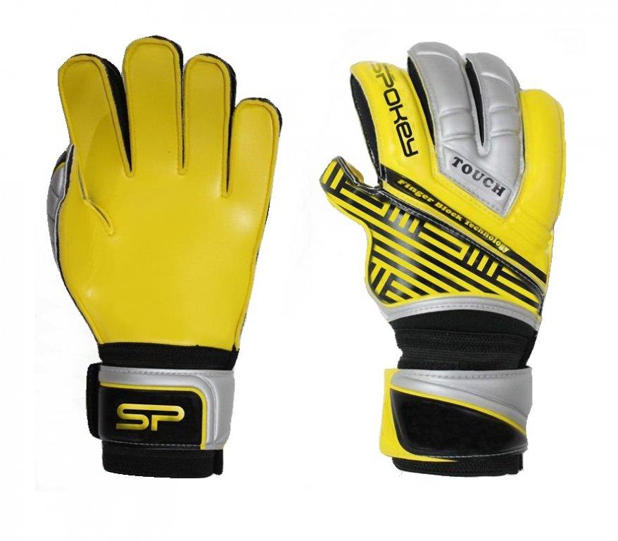 Brankářské rukavice Spokey TOUCH PRO žluté