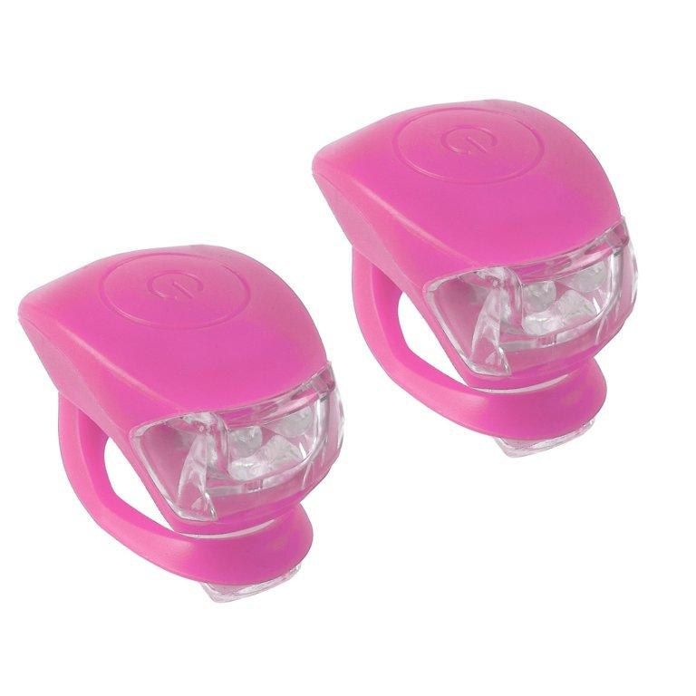 Blikačka přední+zadní silicon bez loga nebalené růžové