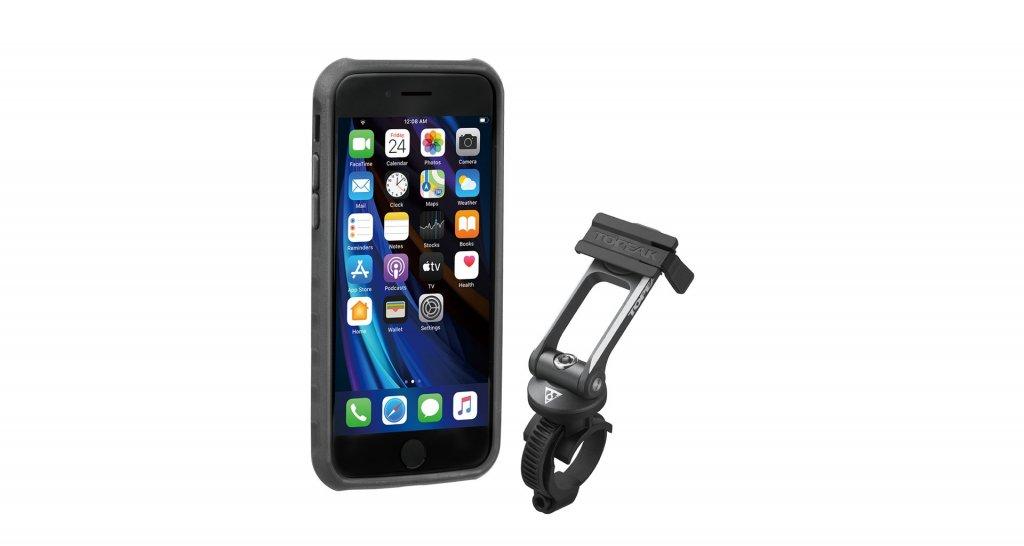 Obal na mobil TOPEAK Ridecase pro iPhone SE, 8, 7 černo/šedý