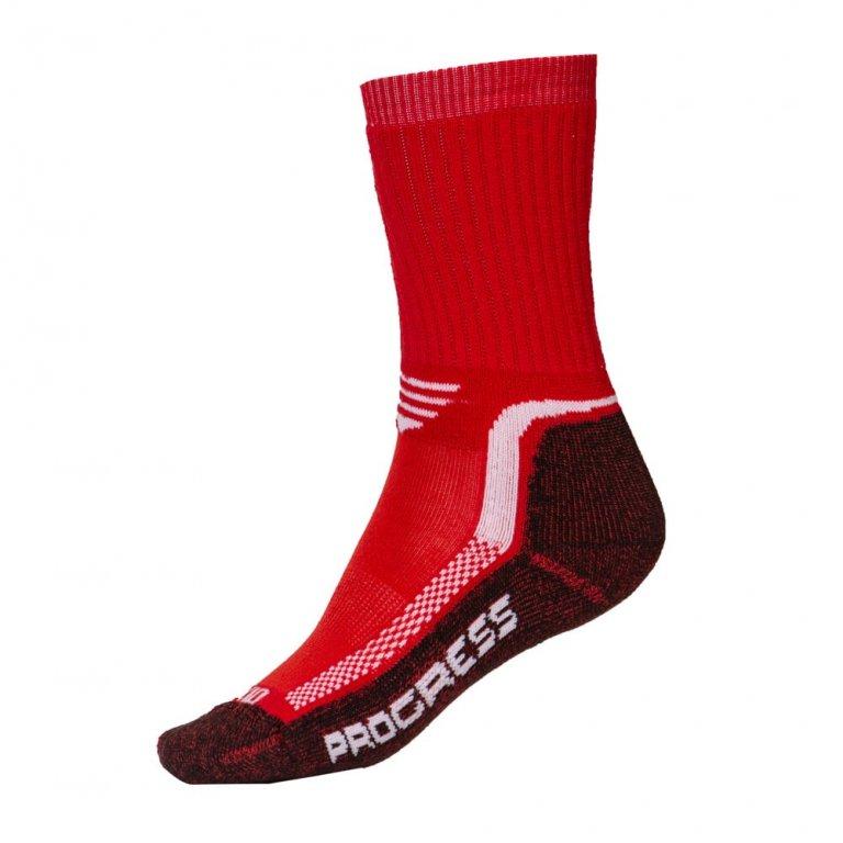 Ponožky dětské Progress Winter Sox červené