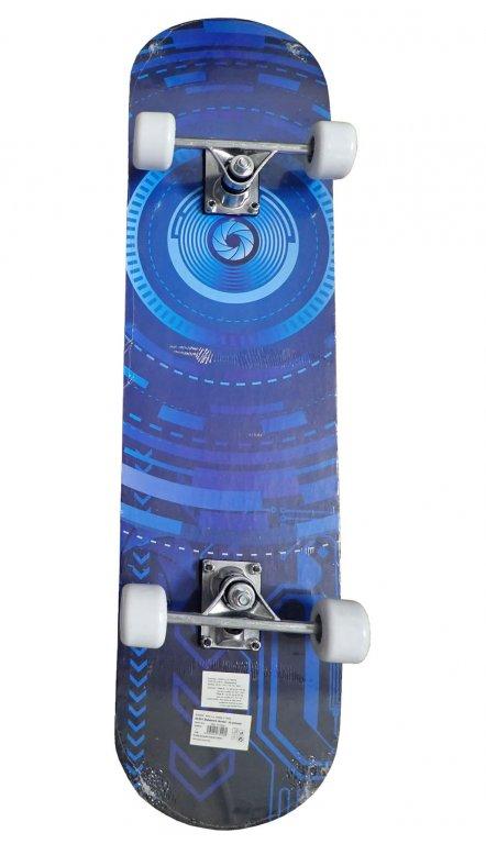 Skateboard sportovní s protismykem modrý