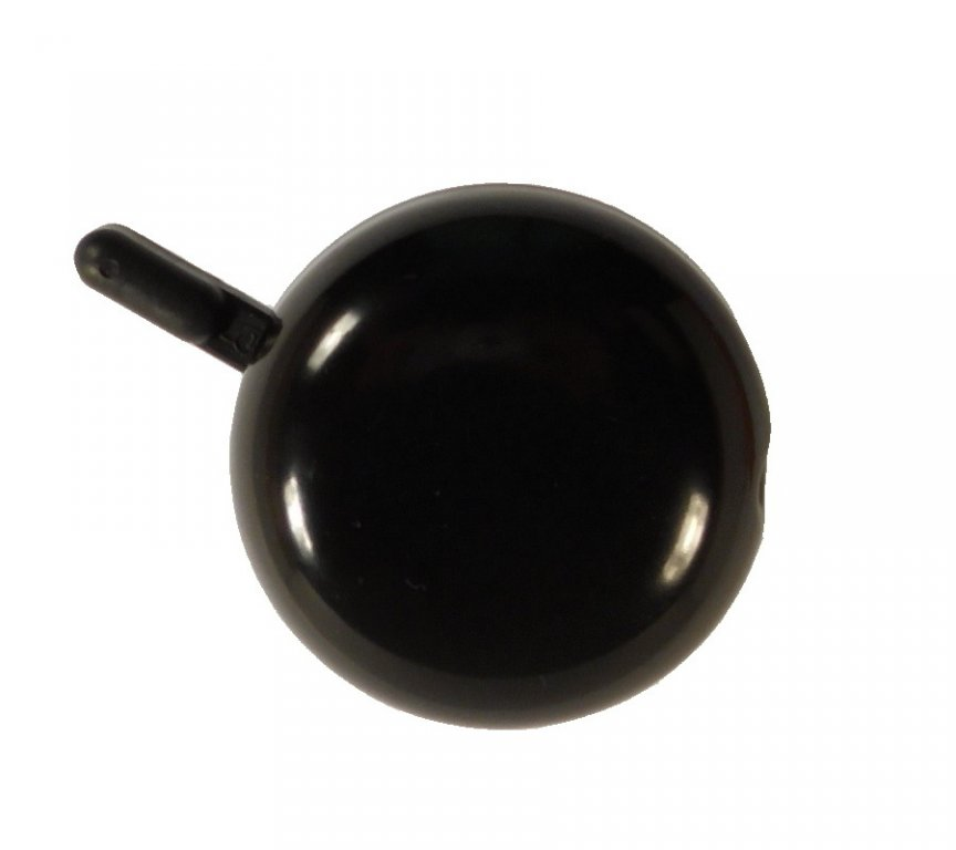 Zvonek hladký smaltovaný černý