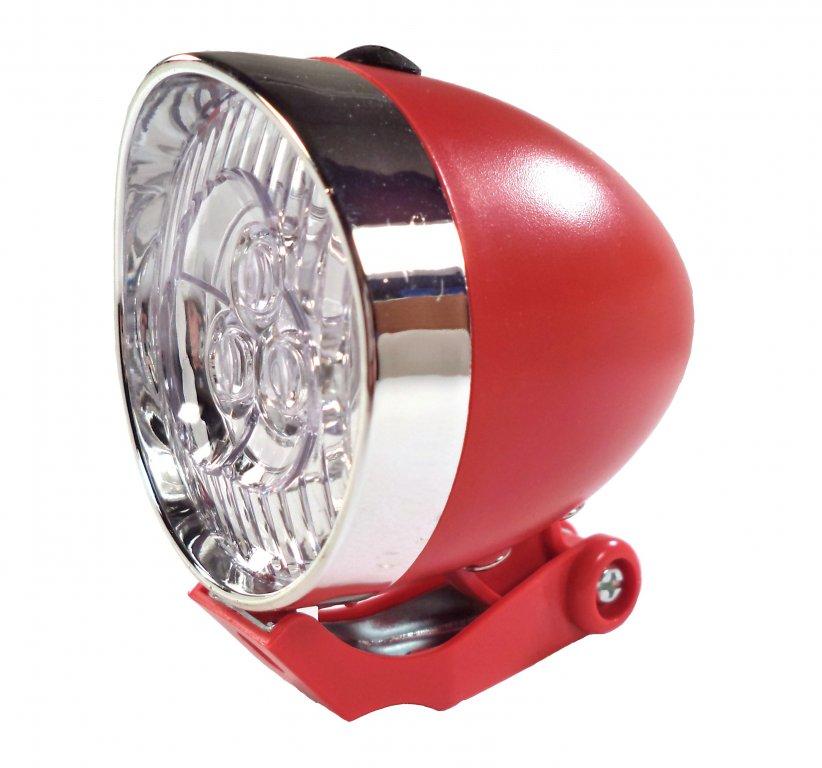 osvětlení přední 4RACE LF02 3 LED bateriové červené