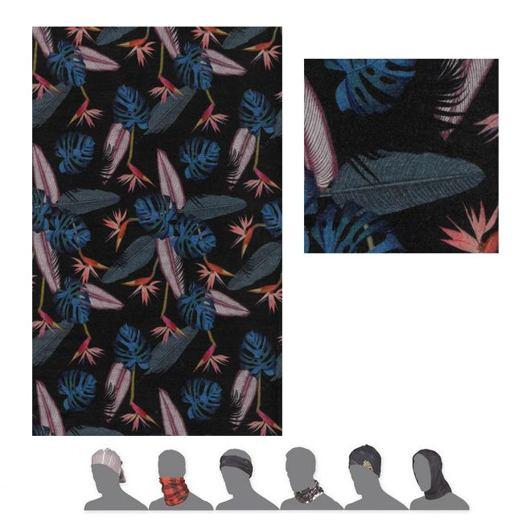 šátek roura SENSOR TUBE MERINO IMPRESS černý/floral