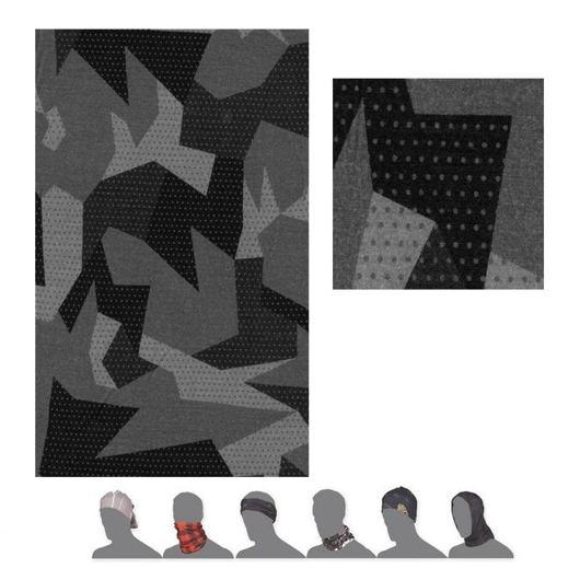 šátek roura SENSOR TUBE MERINO IMPRESS černý/camo
