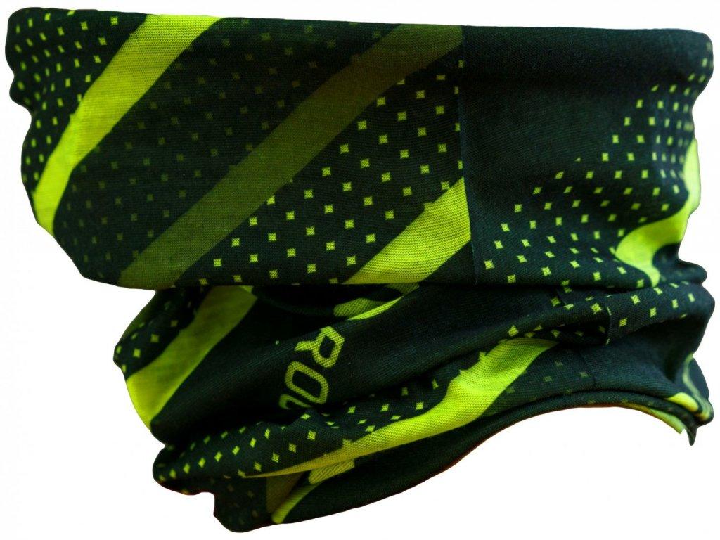 šátek roura Rogelli SCARF černá reflexní žlutá