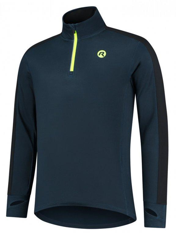 Mikina pánská běžecká Rogelli ELECTRO černo reflexní žlutá