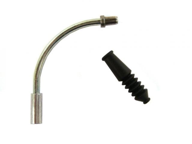 vodítko lanka pro V-brzdy 90°+gumička 4RACE 10ks