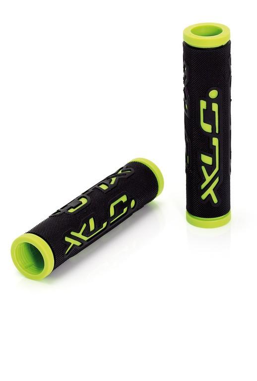 Gripy XLC Dual Colour 125mm černo/zelené