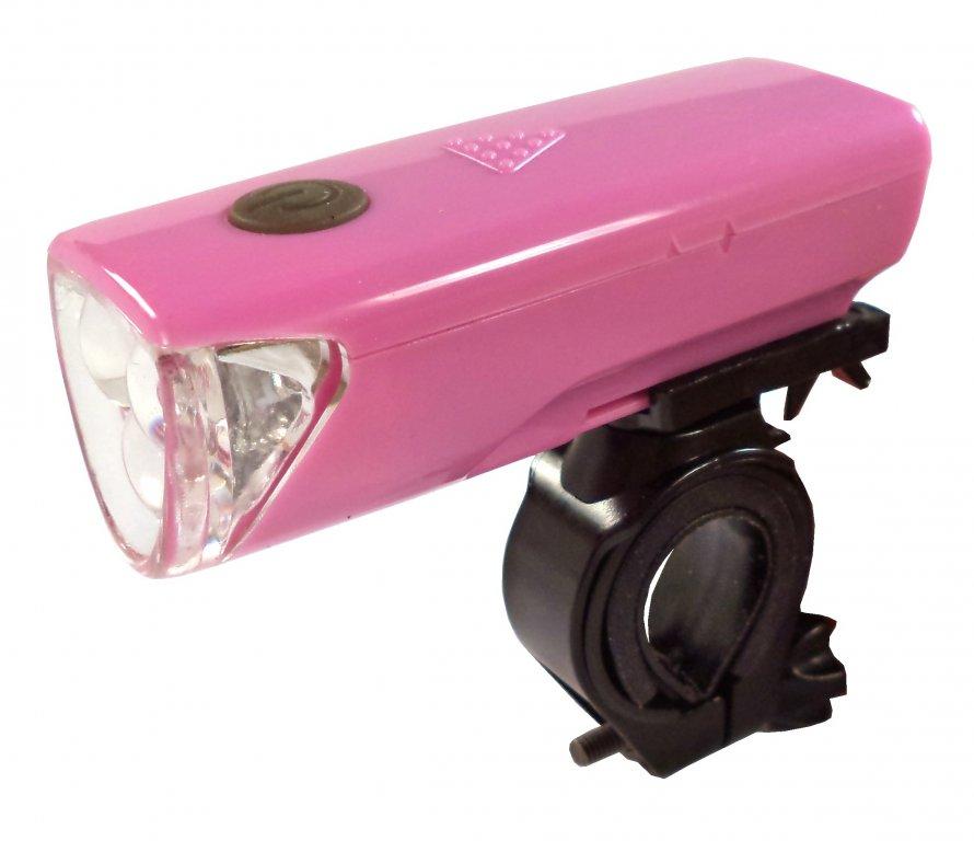 osvětlení přední 4RACE LF01 3 D růžové