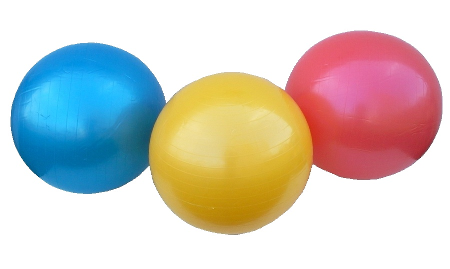 míč gymnastický relaxační 85 cm modrý