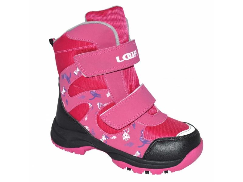 boty dětské LOAP CHOSEE zimní růžové, 25