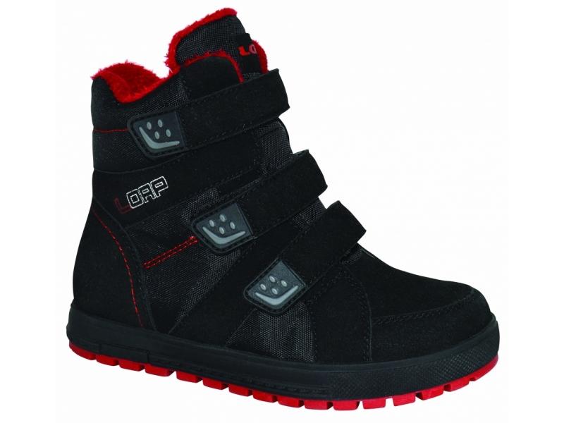 Boty dětské LOAP MANIC zimní černo/červené