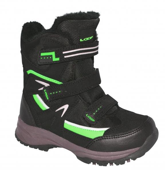 Boty dětské LOAP MAREO zimní černo/zelené