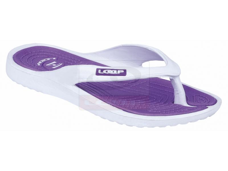 boty dámské LOAP DUBLIN žabky bílo/fialové, 36