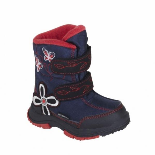 boty dětské LOAP JULI zimní červené, 22