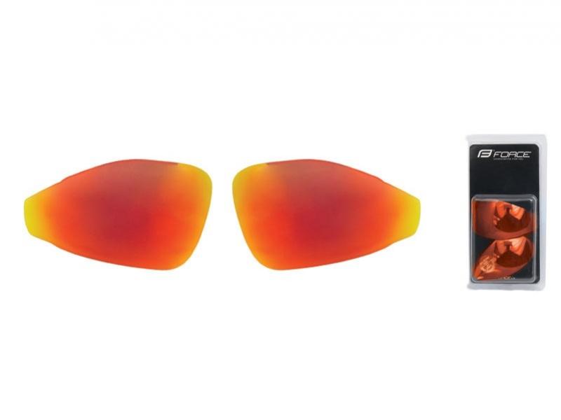 brýle FORCE PRO - skla červená laser