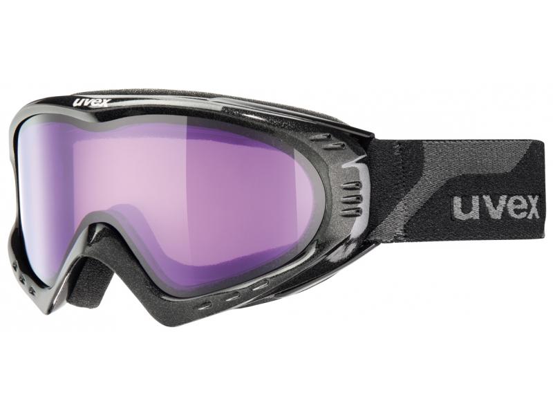 brýle lyžařské UVEX F 2 černo/fialové