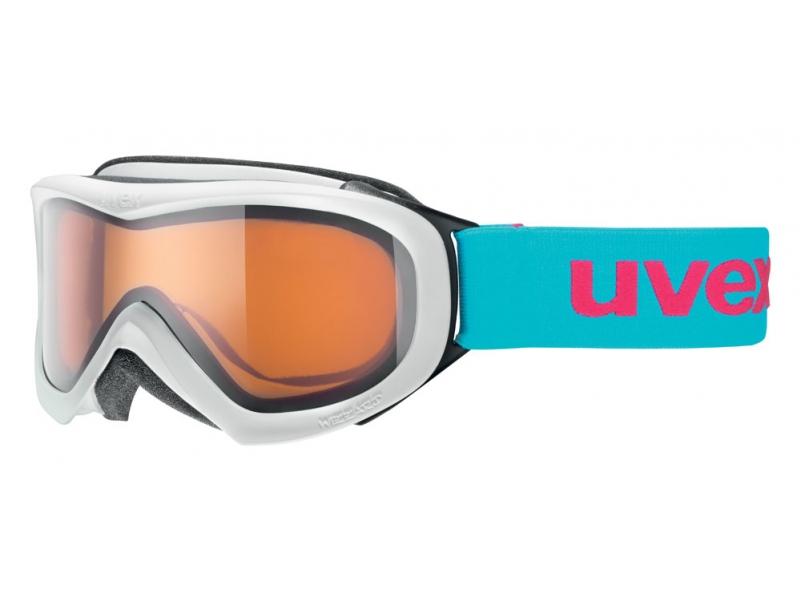 brýle lyžařské UVEX WIZZARD DL bílo/tyrkysové