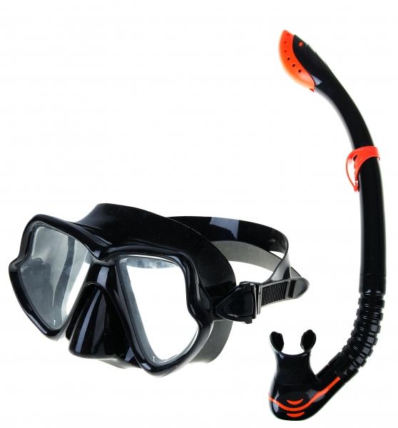 brýle+šnorchl Spokey TORTUGA černý