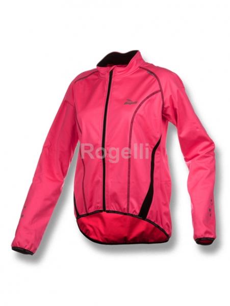 bunda dámská Rogelli BARA softshell reflexní růžová, L
