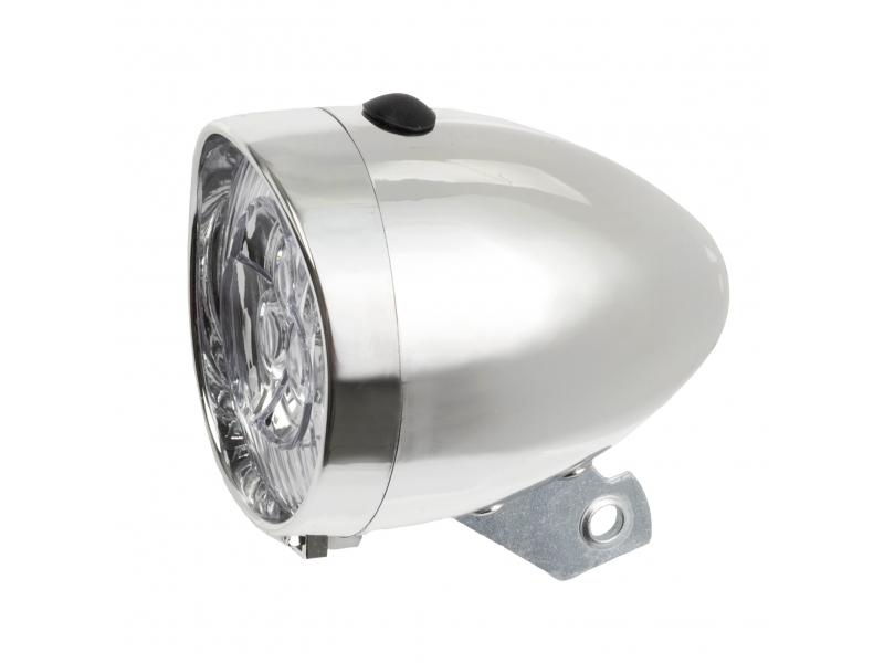 osvětlení přední 3 LED bateriové pochromované
