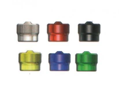 čepička ventilková kovová modrá 1ks
