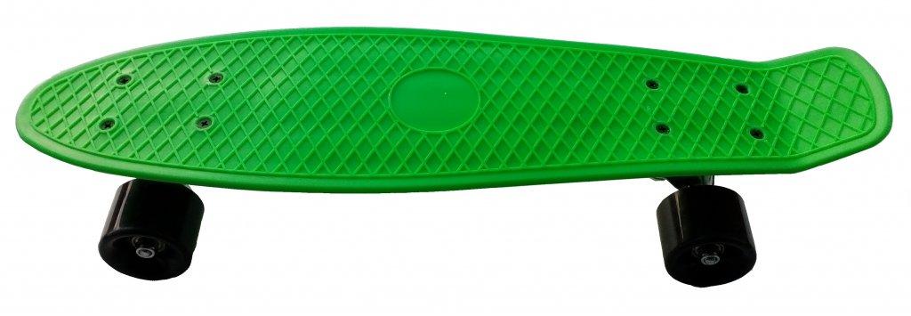 skateboard plastic zelený