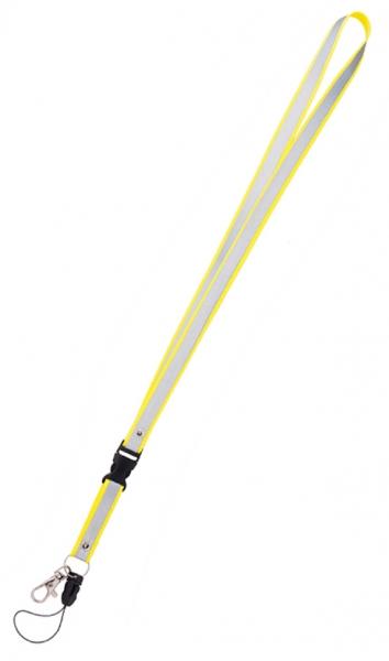 klíčenka reflexní bez potisku žlutá