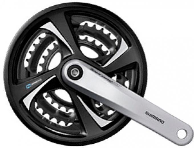 Kliky Shimano Tourney FC-TX801 3x6/7/8 48/38/28z 175mm černé
