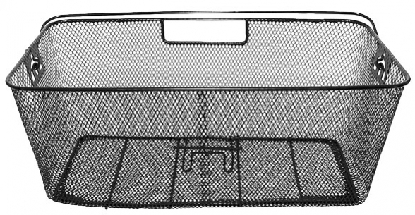koš nosičový XL drátěný černý